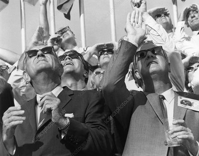 Spiro Agnew & Lyndon Johnson at Apollo 11 launch
