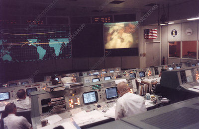 Mission Control, Houston, during Apollo 13 mission