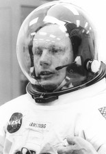 Neil Armstrong in spacesuit before Apollo 11