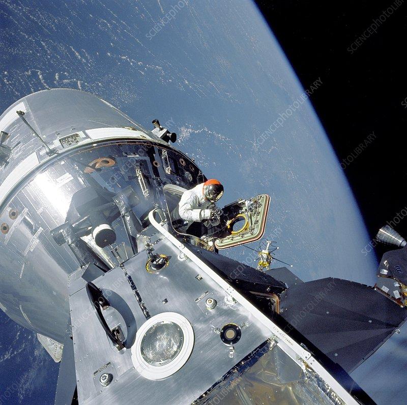 Apollo 9 space walk, 1969