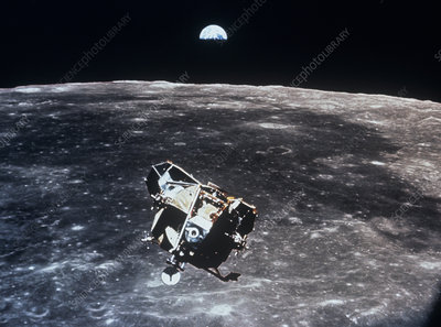 Apollo 11 photo of Lunar Module ascent stage