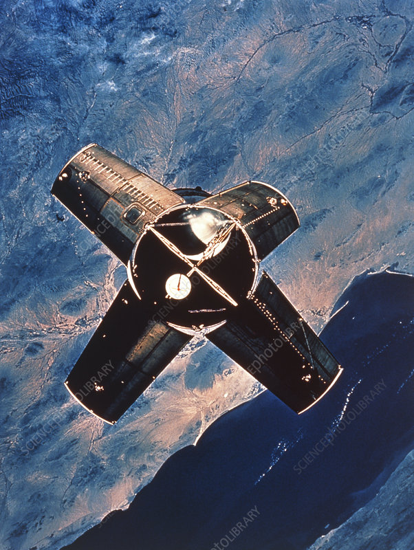 Apollo 7 pic of Saturn rocket 4B stage
