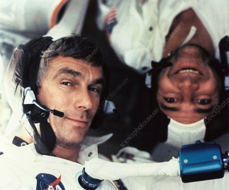 Astronauts Cernan and Evans onboard Apollo 17