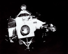 Apollo 13 Lunar Module after separation