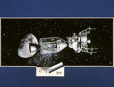 Artwork showing an explosion on board Apollo 13