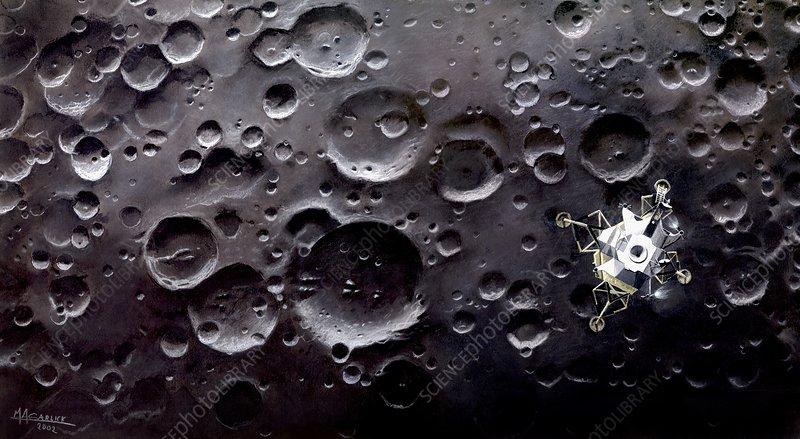 Apollo 11 Lunar Module, artwork