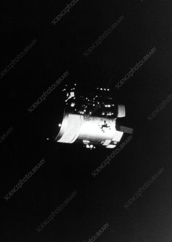 Damaged Apollo 13 service module