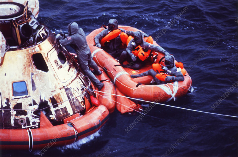 Recovery of Apollo 11 crew