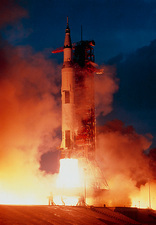 Launch of Apollo 14 atop a Saturn V rocket
