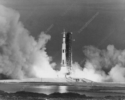 Launch of Apollo 15 atop a Saturn V rocket