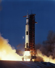 Launch of Apollo 13 atop a Saturn V rocket