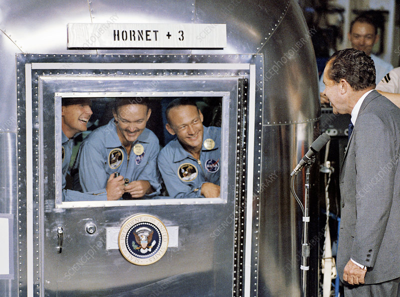 President Nixon with Apollo 11 crew