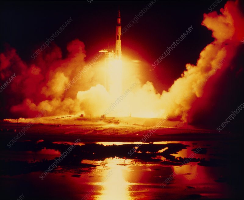 Night launch of Apollo 17