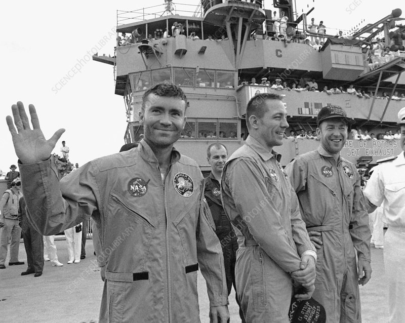 Crew of Apollo 13 after returning to Earth