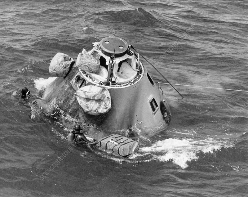 Recovery of Apollo 6 test command module