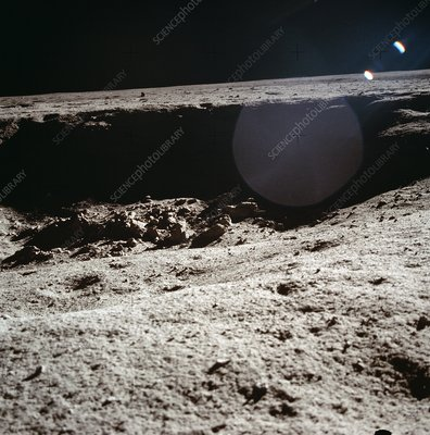 Moon surface near Apollo 11