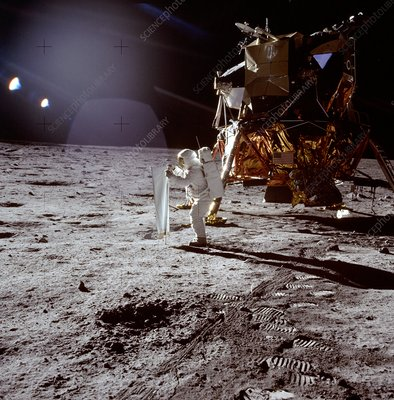 Apollo 11 photo of Astronaut Edwin Aldrin on moon