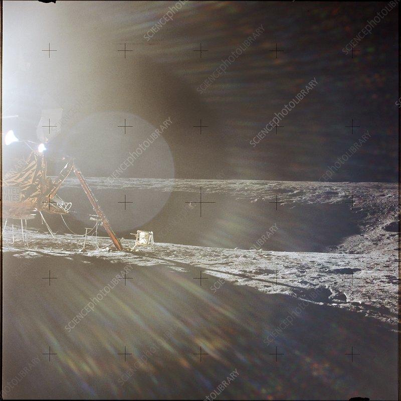 Apollo 12 Lunar Module landing site