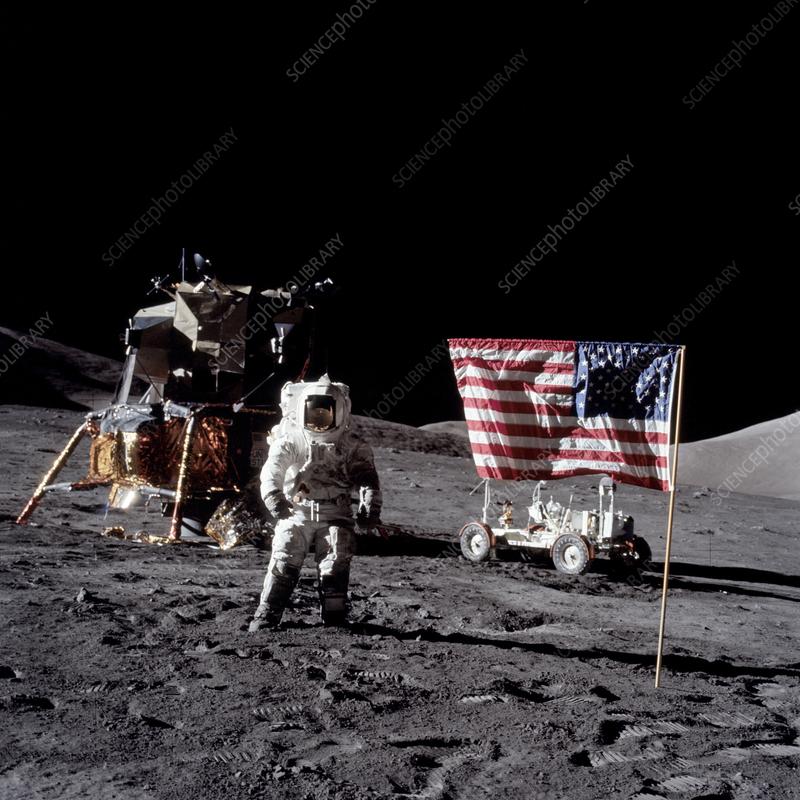 Apollo 17 astronaut Harrison Schmitt on Moon