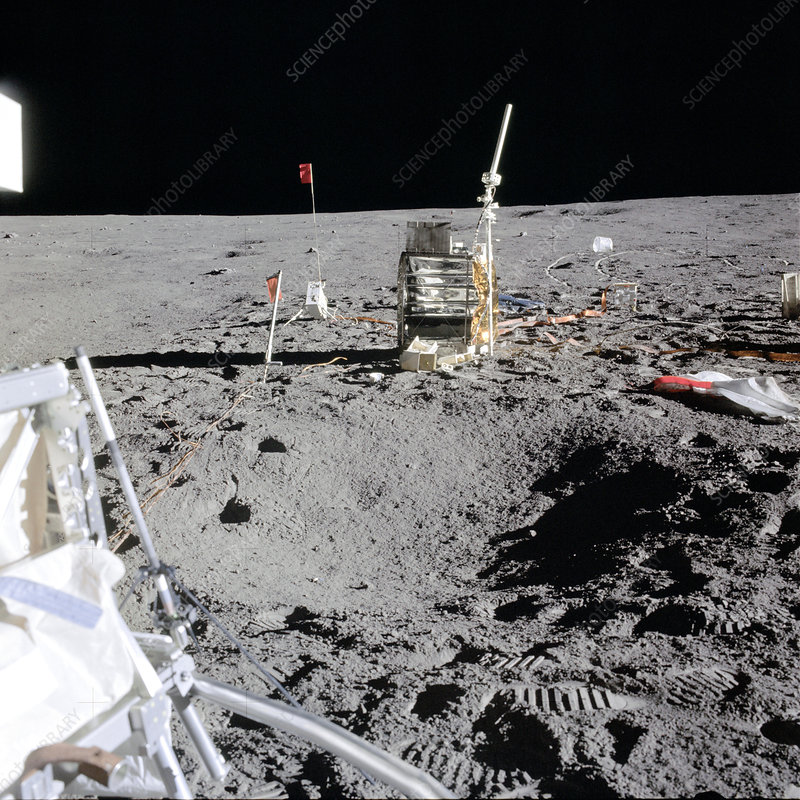 Apollo 14 experiments on the Moon