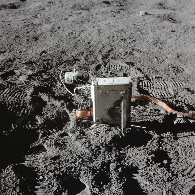 Apollo 14 equipment on the moon