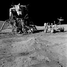 Apollo 16 lunar module on the moon
