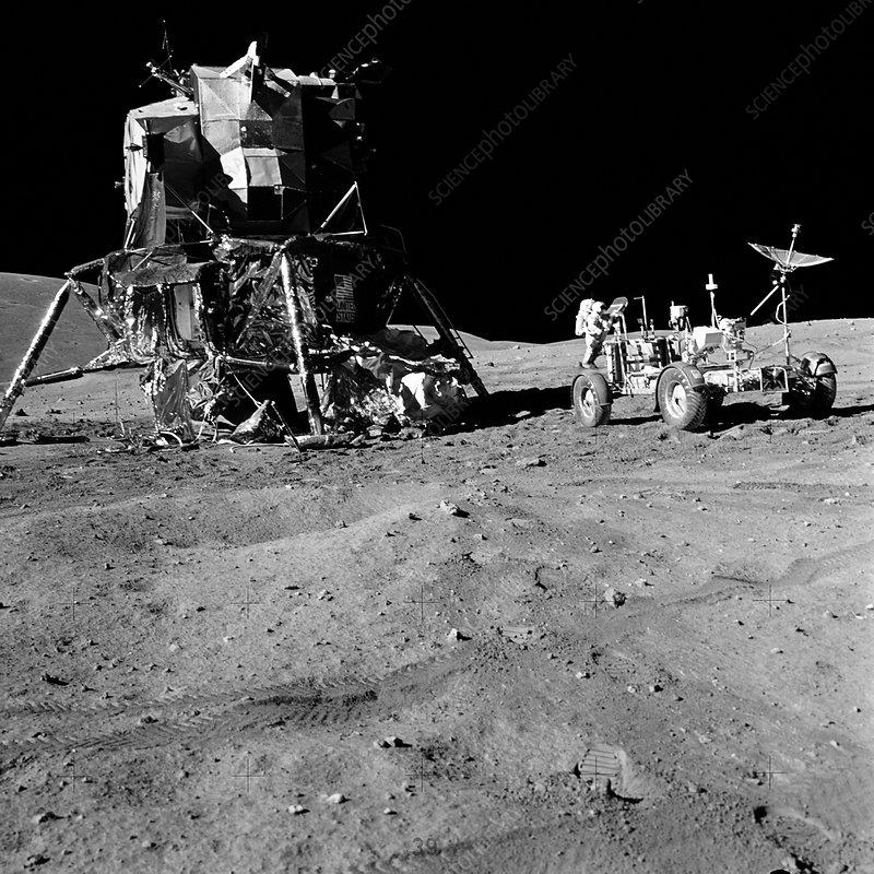 Apollo 16 lunar module on the moon
