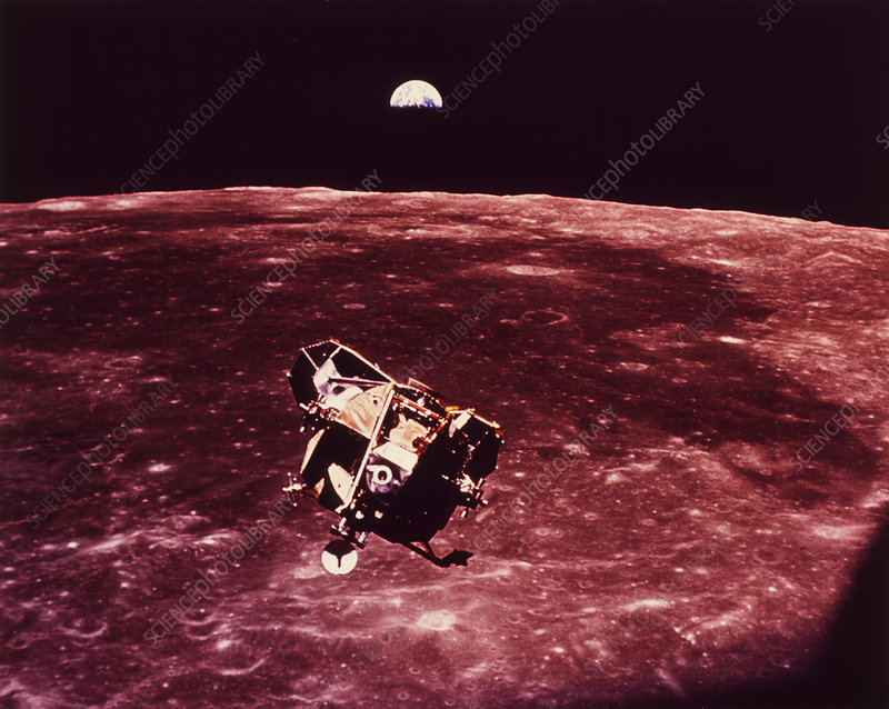 Apollo 11 Lunar Module returning from the moon