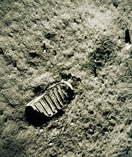 Apollo 11 photo of astronaut's footprint on Moon