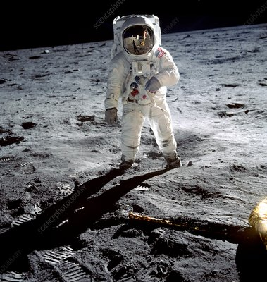 Edwin 'Buzz' Aldrin on the moon,Apollo 11