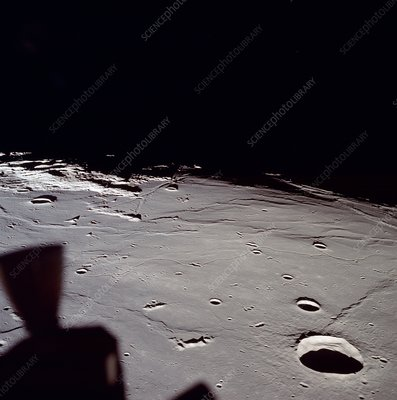Apollo 11 view of approach to landing site