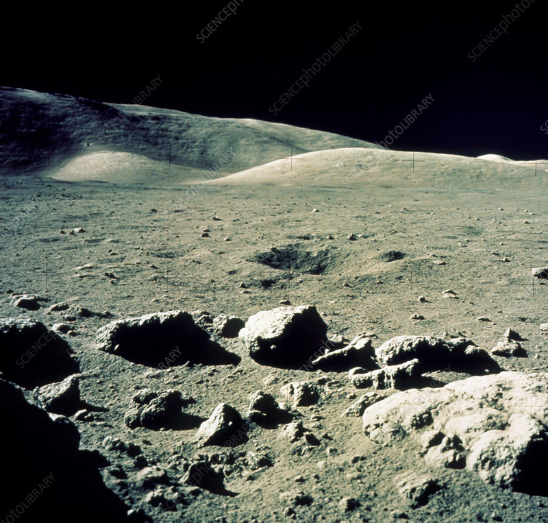 Lunar landscape in Taurus-Littrow region, Apollo17