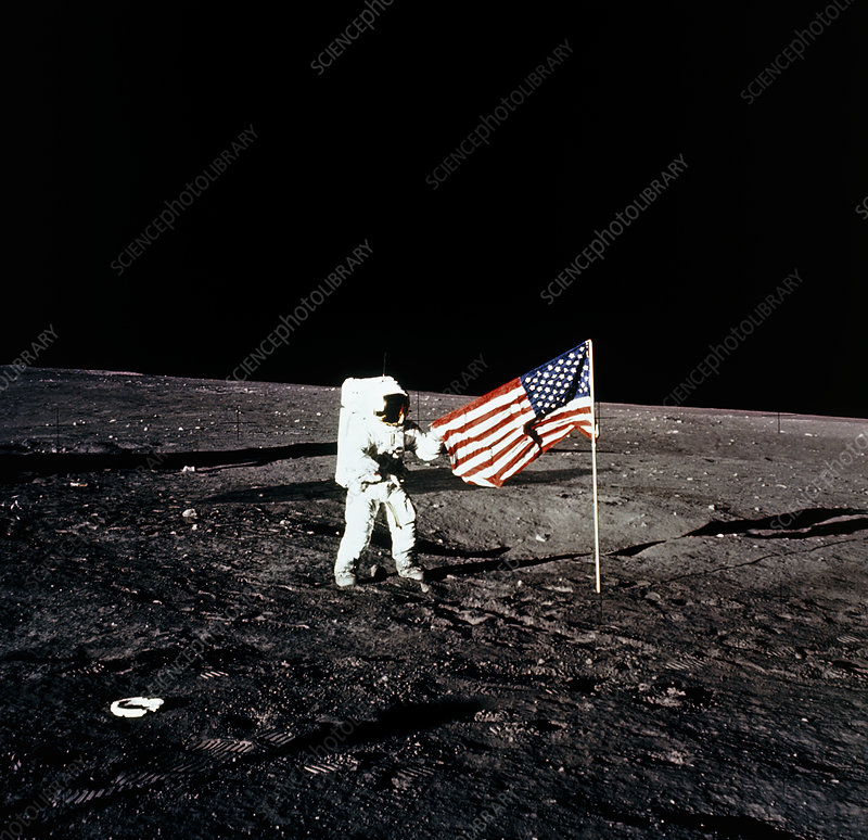 Astronaut American Flag - Pics about space