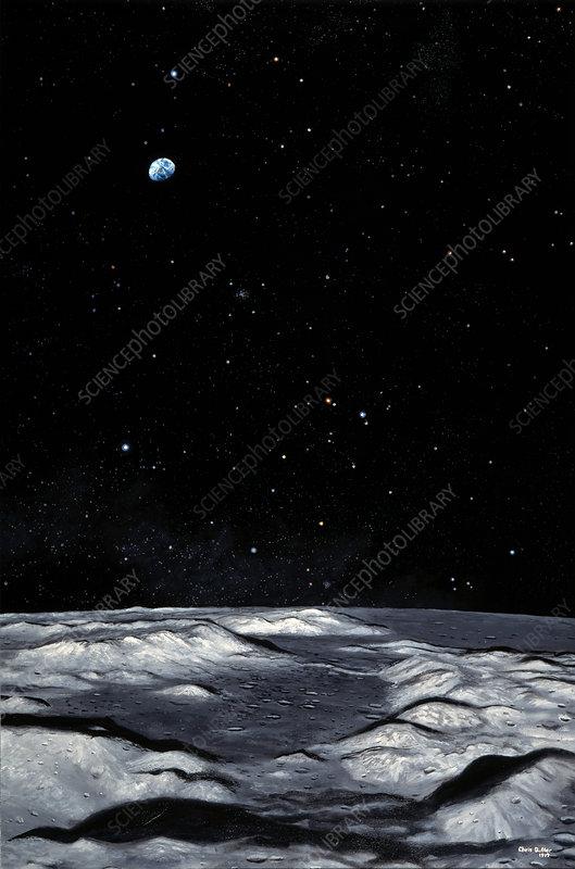 Apollo 17 landing site on Moon