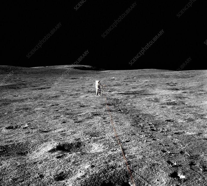 Lunar seismic testing