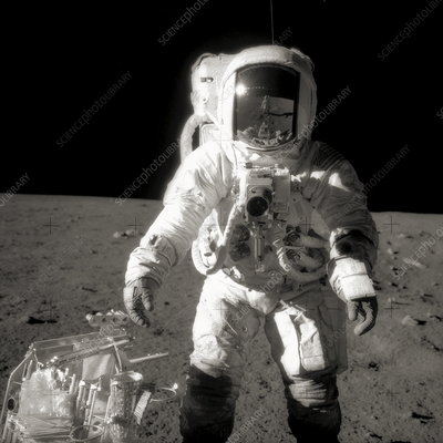Astronaut Alan Bean on the Moon