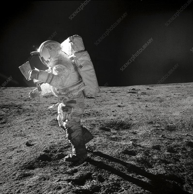 Apollo 14 astronaut on the Moon