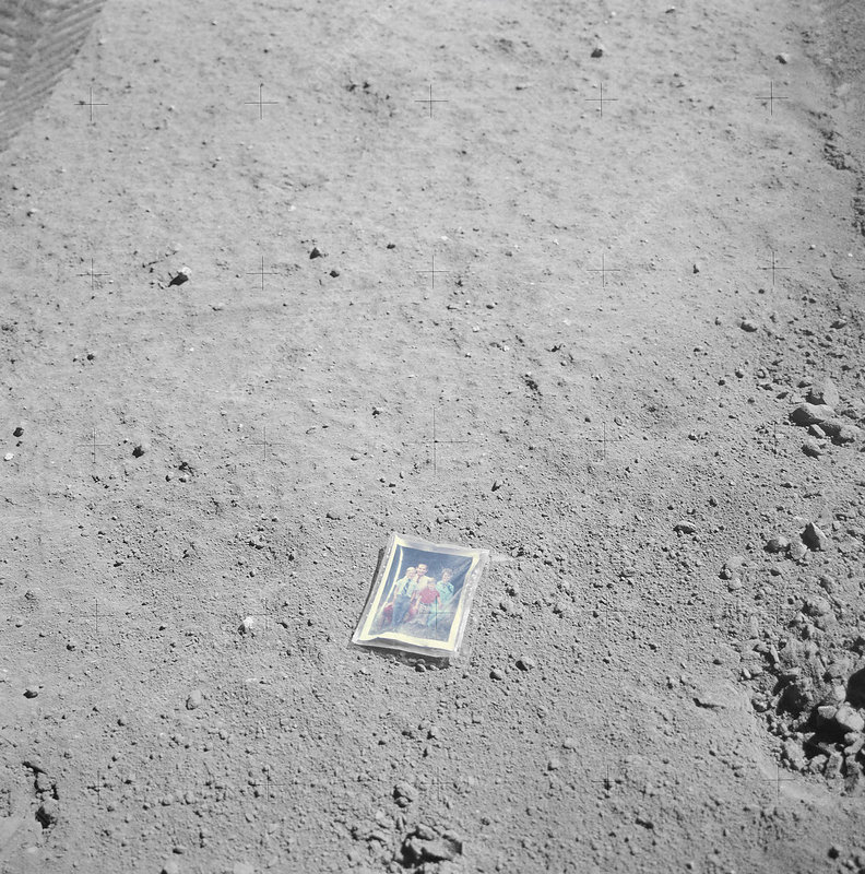 Photograph left on the Moon