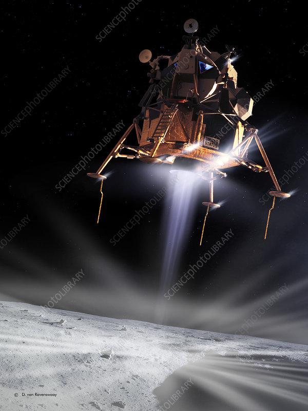 Apollo 11 Moon landing, computer artwork
