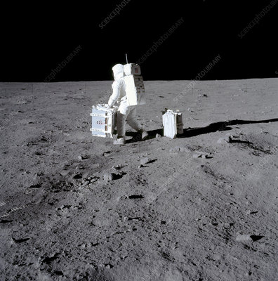 Buzz Aldrin on the Moon, Apollo 11, 1969