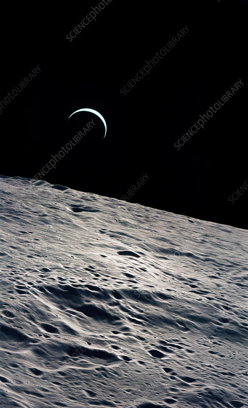 Cresent Earth, as seen from the Moon