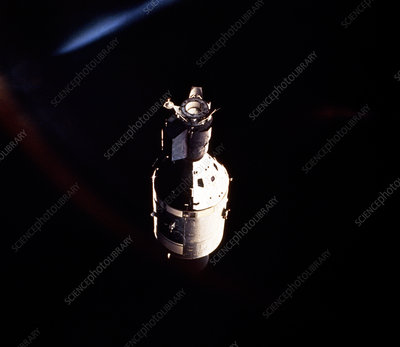 Apollo 18 spacecraft photographed from Soyuz 19