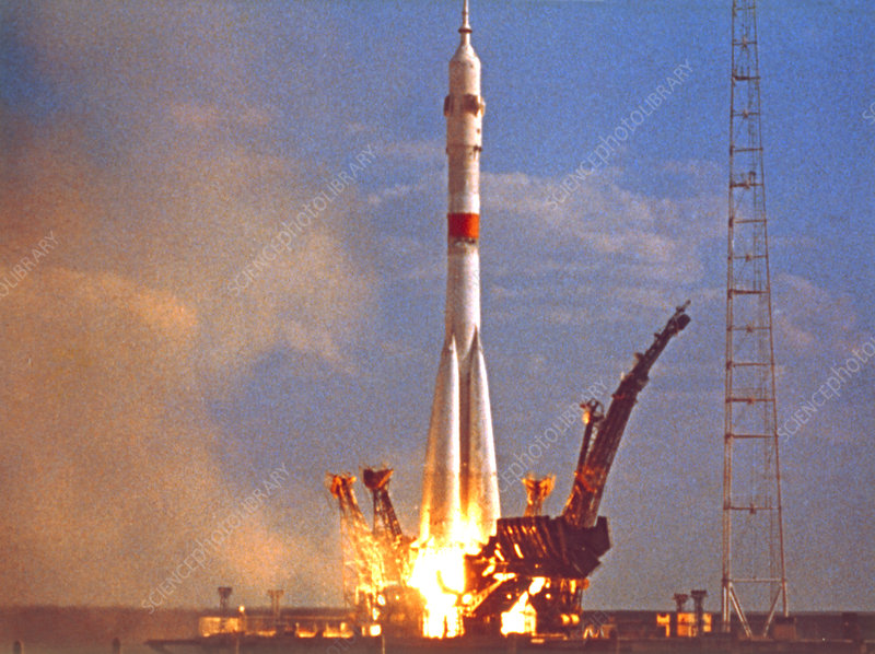 Launch of Soyuz 19 for Apollo-Soyuz Test Project