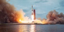 Lift-off of unmanned Skylab 1