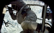 Skylab 2 crew on a spacewalk