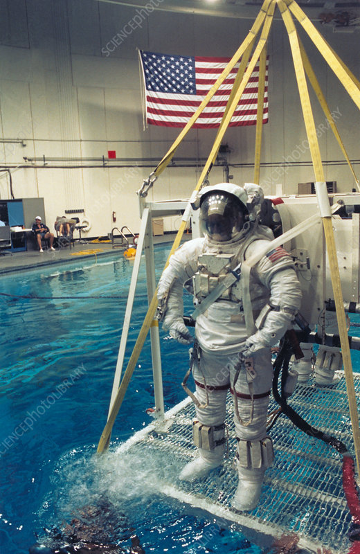 Astronaut Bluford prepares for Shuttle training