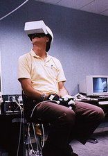 Jeffrey Hoffman in VR helmet & gloves, STS-61