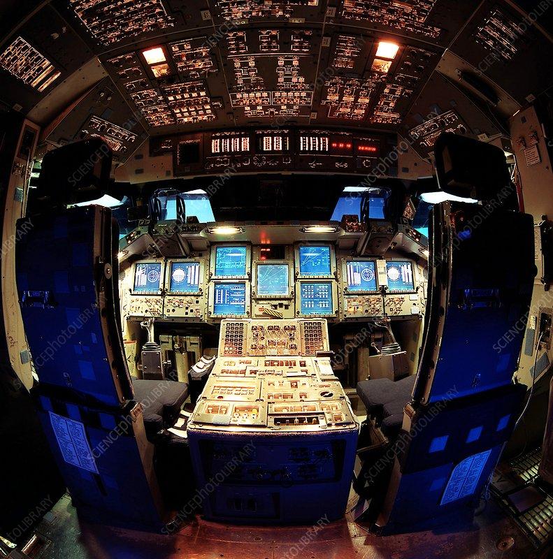 Space Shuttle simulator cockpit, 1999