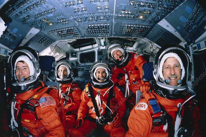 Crew portrait in training for Shuttle STS-38