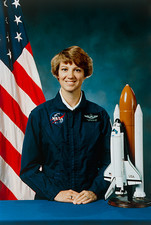Portrait of astronaut Eileen Collins